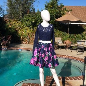 Sequin Hearts Navy 2 Piece Formal Set Size 3